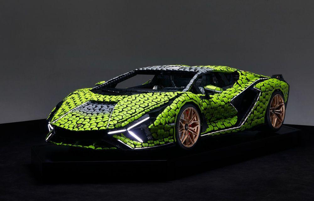 Cea mai nouă machetă Lego este acest Lamborghini Sian în mărime naturală - Poza 1