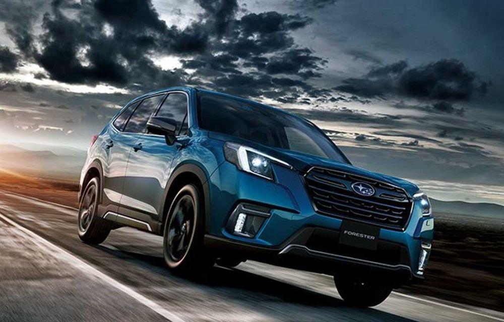 Subaru Forester facelift: noutăți exterioare și suspensii recalibrate pentru mai mult confort - Poza 2