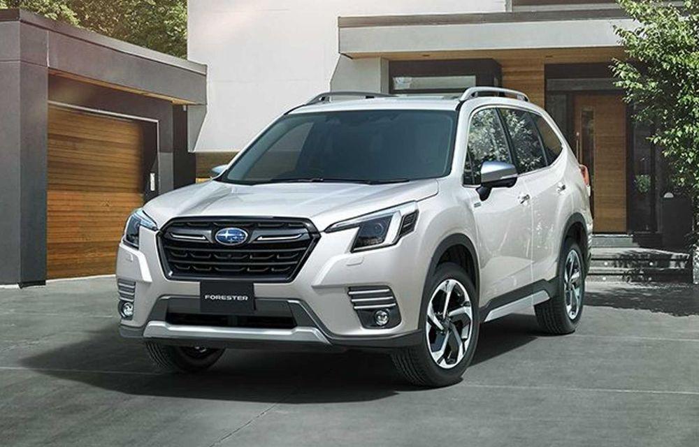Subaru Forester facelift: noutăți exterioare și suspensii recalibrate pentru mai mult confort - Poza 1