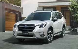 Subaru Forester facelift: noutăți exterioare și suspensii recalibrate pentru mai mult confort