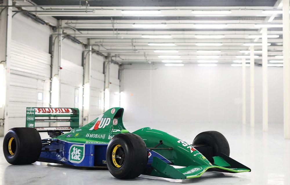 Primul monopost de Formula 1 pilotat de Michael Schumacher a fost scos la vânzare - Poza 1
