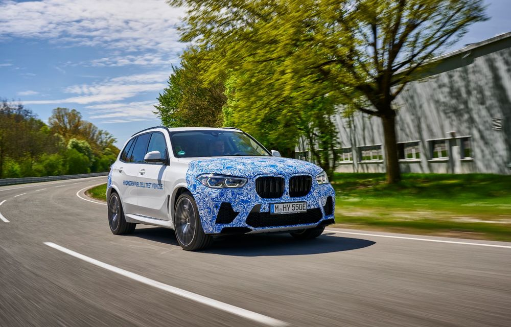BMW a început testele cu prototipul i Hydrogen Next, un X5 electric alimentat cu hidrogen - Poza 2
