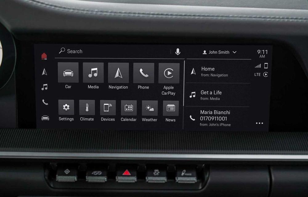Sistemul multimedia al germanilor de la Porsche primește o nouă versiune: interfață regândită și Android Auto - Poza 12