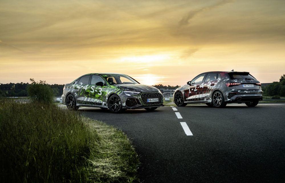 Primele imagini cu noul Audi RS3: motor de 400 de cai și o setare specială pentru drifturi - Poza 2