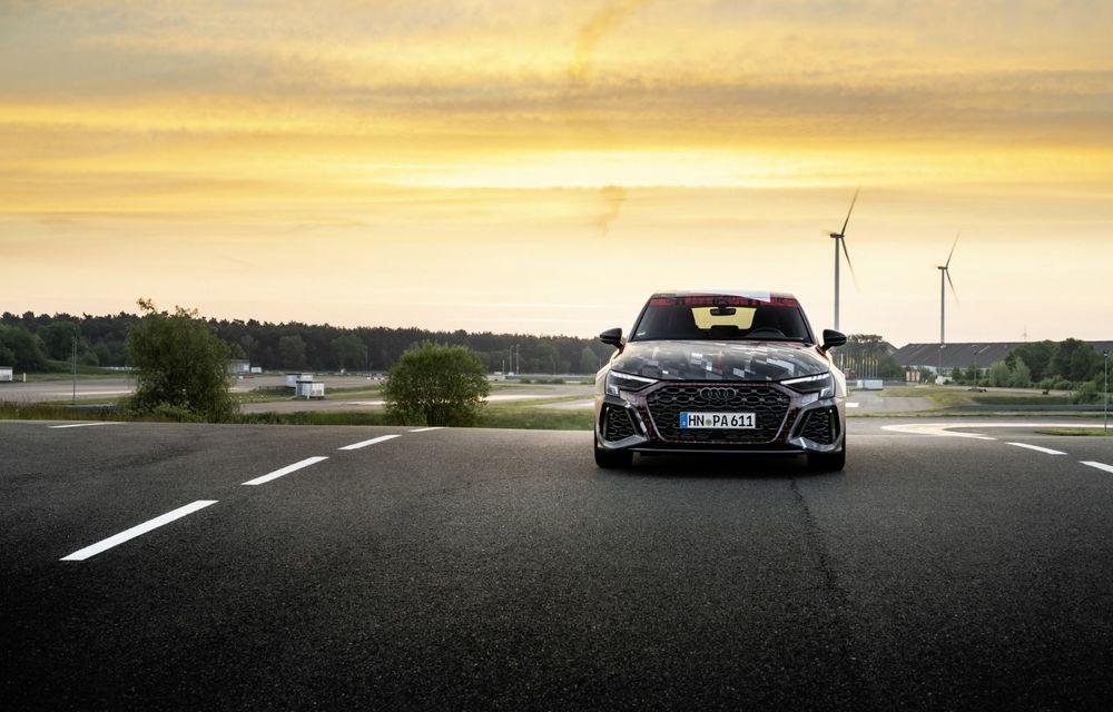 Primele imagini cu noul Audi RS3: motor de 400 de cai și o setare specială pentru drifturi - Poza 4