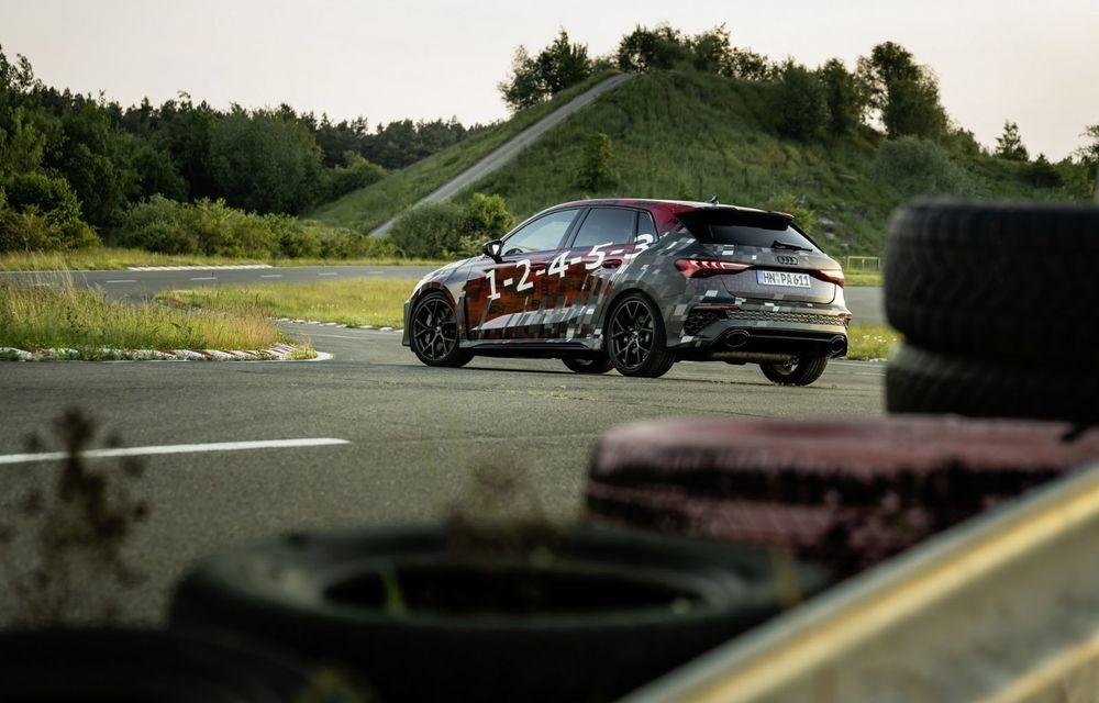 Primele imagini cu noul Audi RS3: motor de 400 de cai și o setare specială pentru drifturi - Poza 5