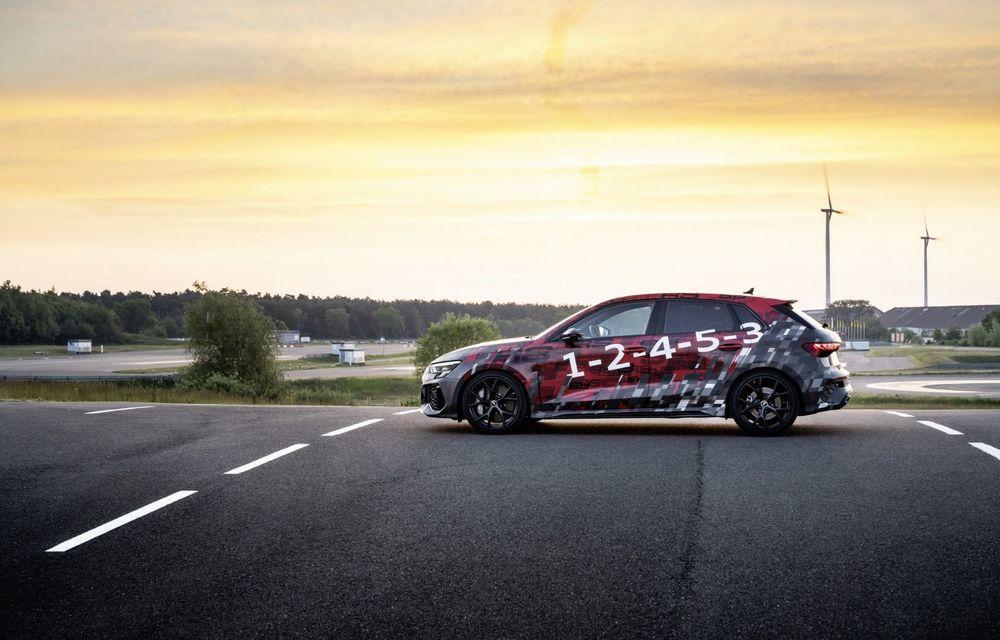 Primele imagini cu noul Audi RS3: motor de 400 de cai și o setare specială pentru drifturi - Poza 6