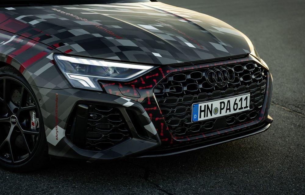 Primele imagini cu noul Audi RS3: motor de 400 de cai și o setare specială pentru drifturi - Poza 25
