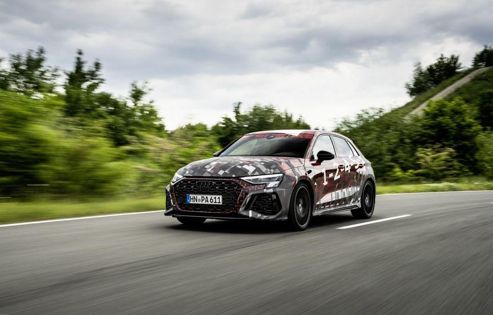 Primele imagini cu noul Audi RS3: motor de 400 de cai și o setare specială pentru drifturi - Poza 7