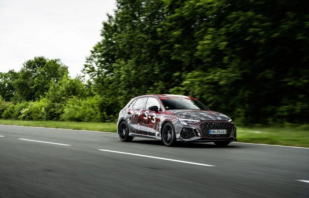 Primele imagini cu noul Audi RS3: motor de 400 de cai și o setare specială pentru drifturi - Poza 8