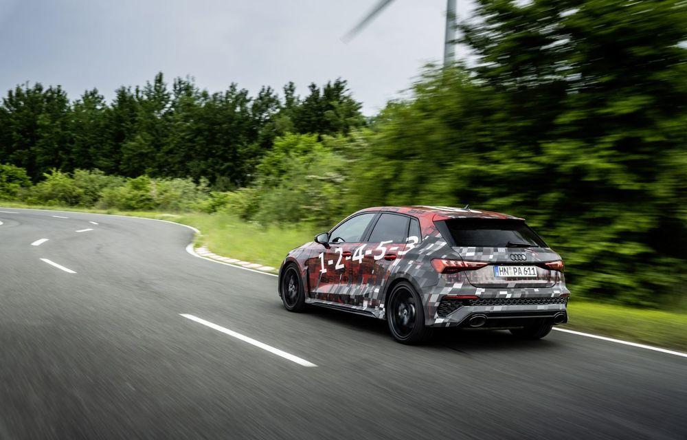 Primele imagini cu noul Audi RS3: motor de 400 de cai și o setare specială pentru drifturi - Poza 9