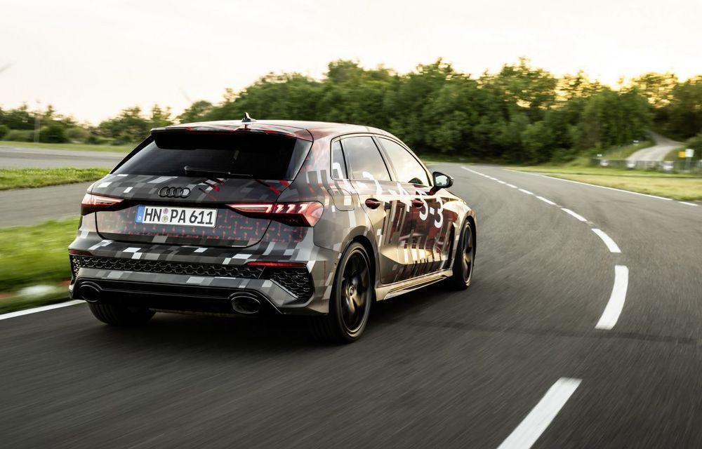 Primele imagini cu noul Audi RS3: motor de 400 de cai și o setare specială pentru drifturi - Poza 10
