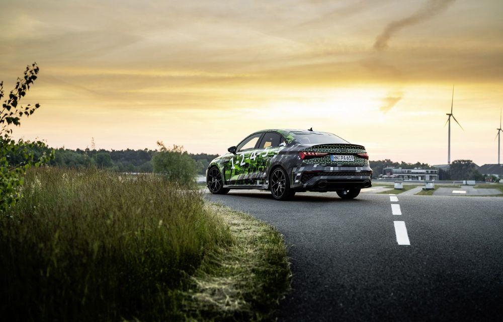 Primele imagini cu noul Audi RS3: motor de 400 de cai și o setare specială pentru drifturi - Poza 14