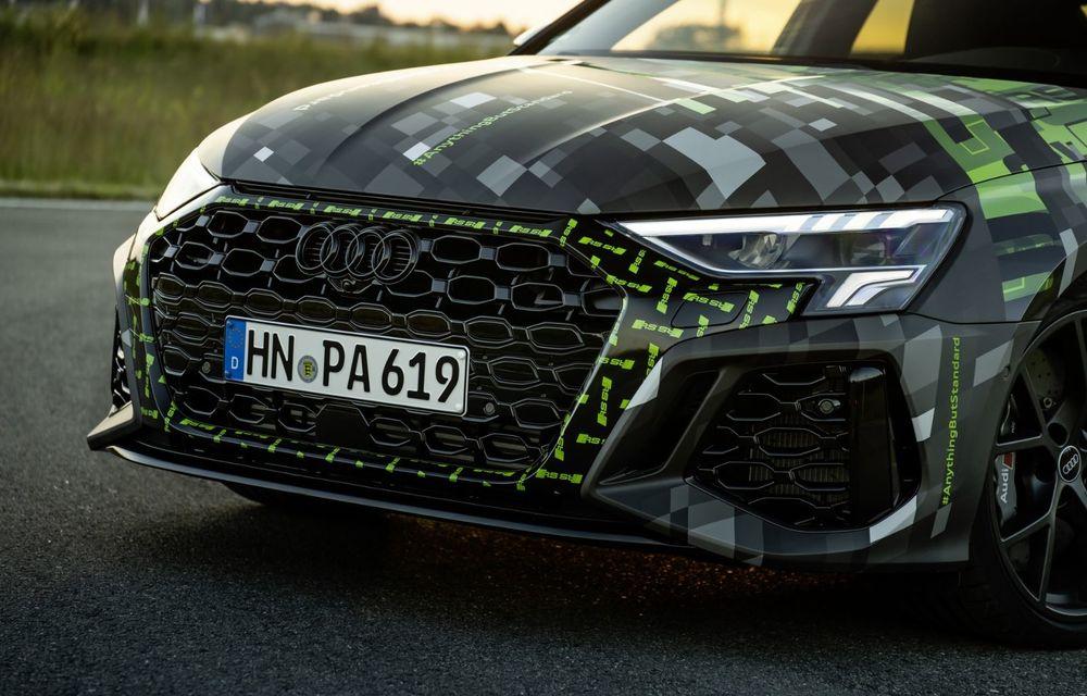 Primele imagini cu noul Audi RS3: motor de 400 de cai și o setare specială pentru drifturi - Poza 30