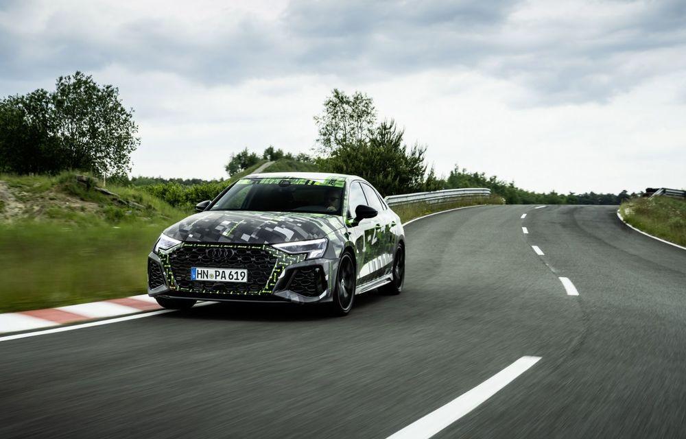 Primele imagini cu noul Audi RS3: motor de 400 de cai și o setare specială pentru drifturi - Poza 17