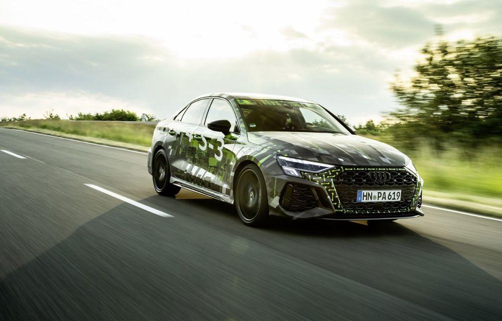 Primele imagini cu noul Audi RS3: motor de 400 de cai și o setare specială pentru drifturi - Poza 18
