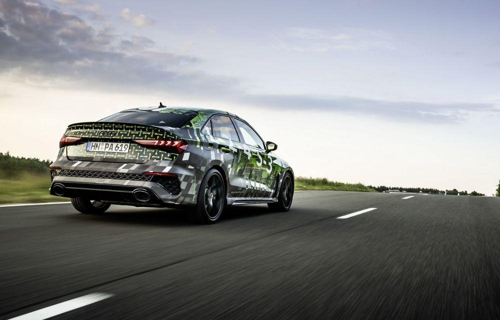 Primele imagini cu noul Audi RS3: motor de 400 de cai și o setare specială pentru drifturi - Poza 19