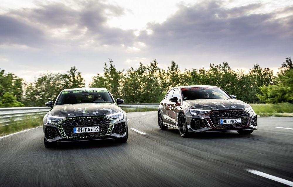 Primele imagini cu noul Audi RS3: motor de 400 de cai și o setare specială pentru drifturi - Poza 21