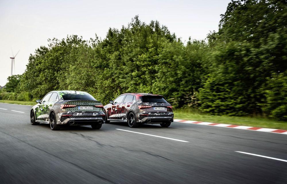 Primele imagini cu noul Audi RS3: motor de 400 de cai și o setare specială pentru drifturi - Poza 22
