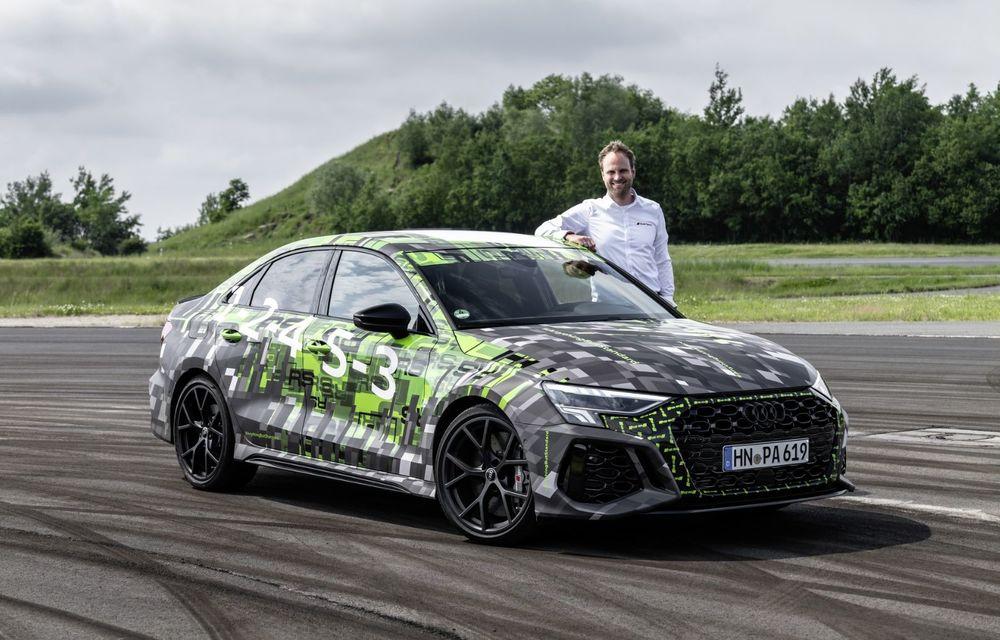 Primele imagini cu noul Audi RS3: motor de 400 de cai și o setare specială pentru drifturi - Poza 23