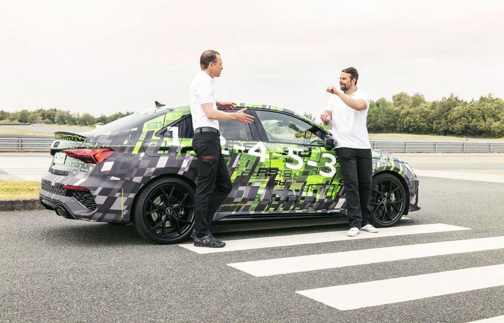 Primele imagini cu noul Audi RS3: motor de 400 de cai și o setare specială pentru drifturi - Poza 24