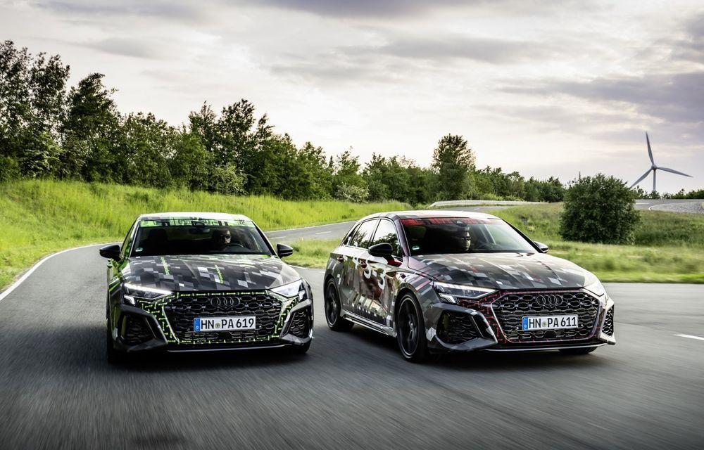 Primele imagini cu noul Audi RS3: motor de 400 de cai și o setare specială pentru drifturi - Poza 1