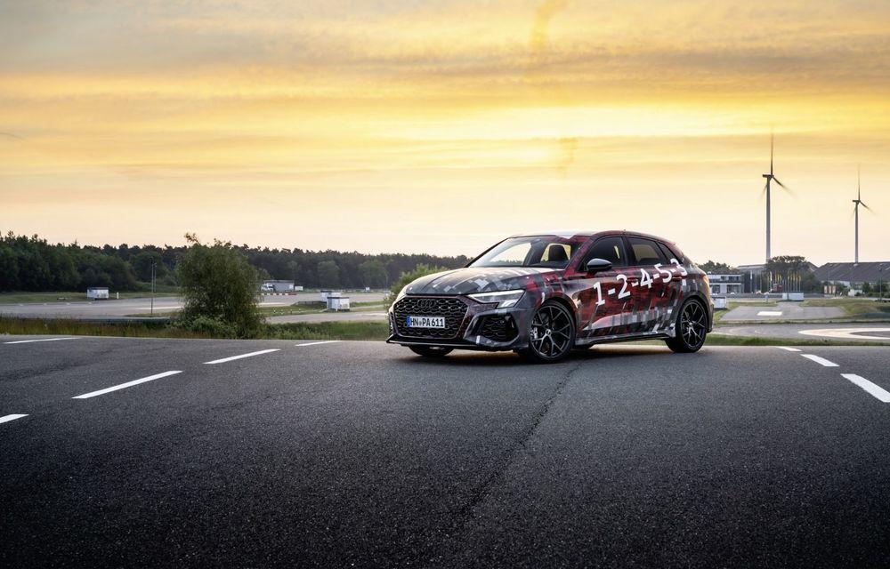 Primele imagini cu noul Audi RS3: motor de 400 de cai și o setare specială pentru drifturi - Poza 3
