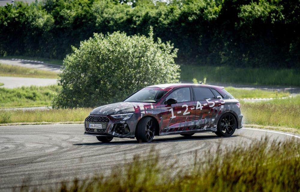 Primele imagini cu noul Audi RS3: motor de 400 de cai și o setare specială pentru drifturi - Poza 12