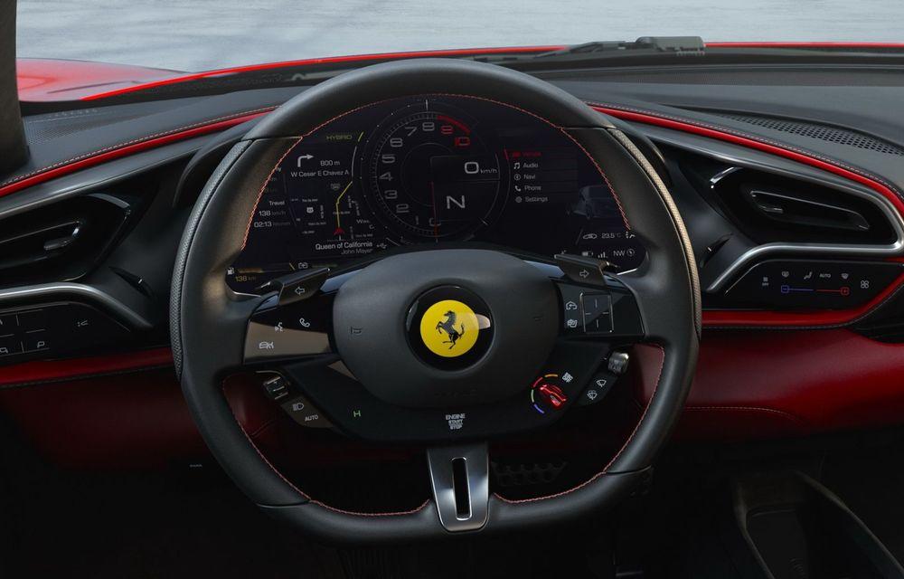 PREMIERĂ: Ferrari 296 GTB se lansează cu motor V6 plug-in hybrid, 830 CP și 25 de km autonomie electrică - Poza 11