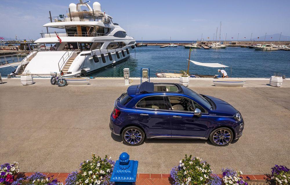 Fiat 500X Yachting: plafon soft-top retractabil și ornamente inspirate din lumea ambarcațiunilor - Poza 12