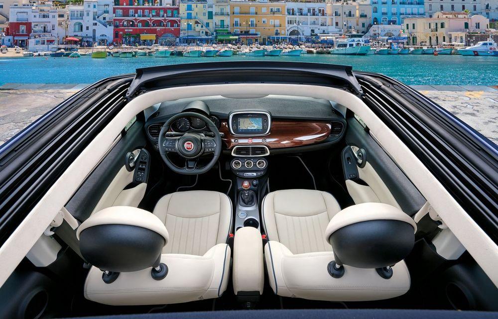 Fiat 500X Yachting: plafon soft-top retractabil și ornamente inspirate din lumea ambarcațiunilor - Poza 15