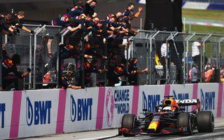 Verstappen bifează a treia victorie consecutivă din 2021. Norris, pe podium în Austria