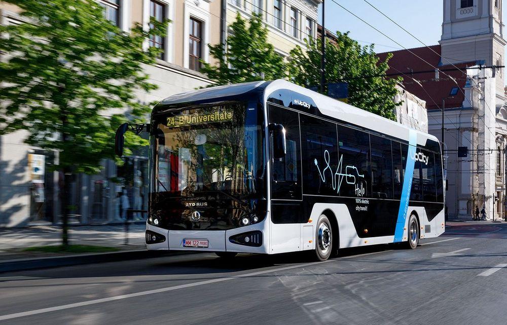 Primul autobuz 100% electric produs în România, testat într-un nou oraș din țară - Poza 1