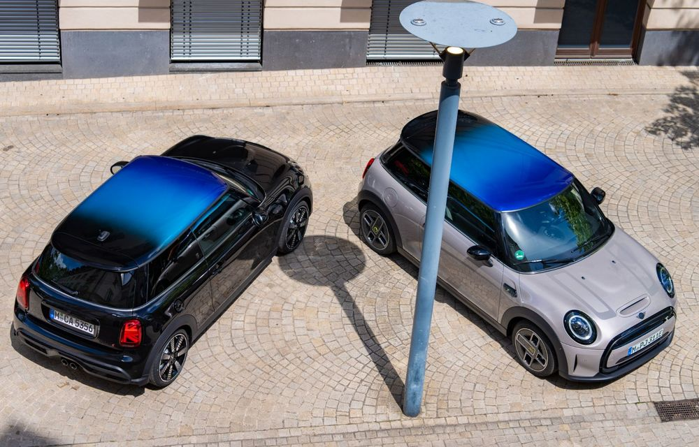 Mini Hatch și Clubman primesc plafonul Multitone, cu design în trei culori - Poza 3