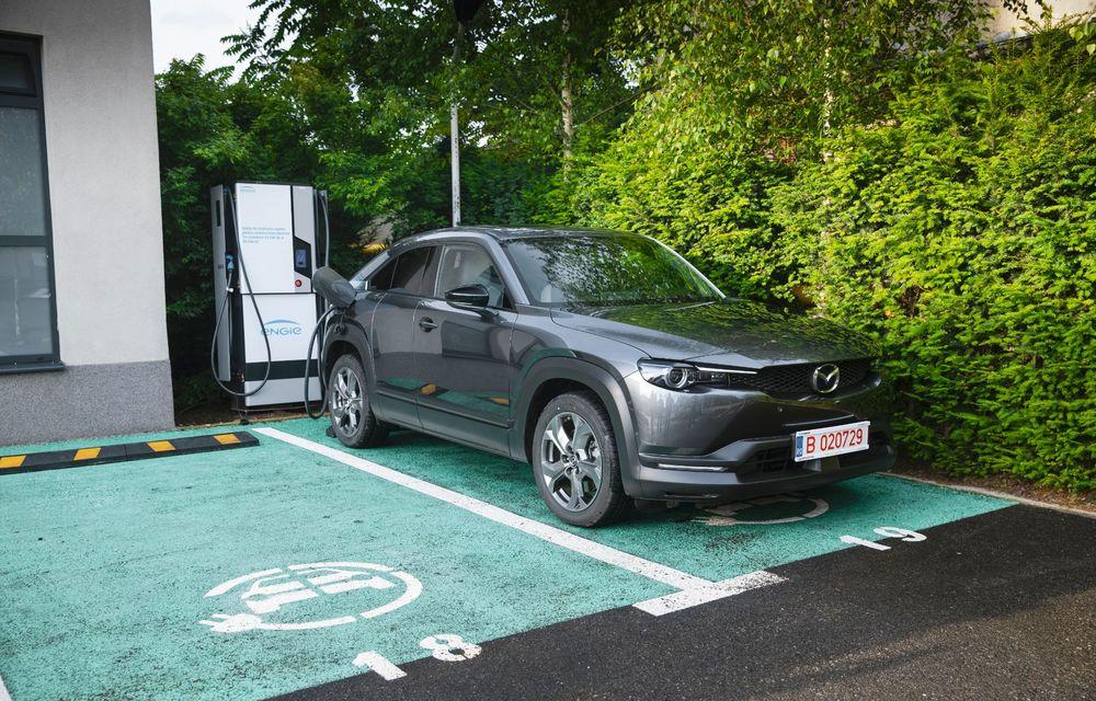 Un prânz gourmet, alimentat cu energie ENGIE: am testat autonomia lui Mazda MX-30 până la Valea Doftanei - Poza 2