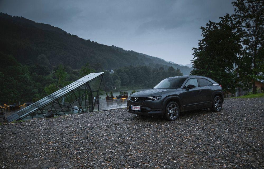 Un prânz gourmet, alimentat cu energie ENGIE: am testat autonomia lui Mazda MX-30 până la Valea Doftanei - Poza 63