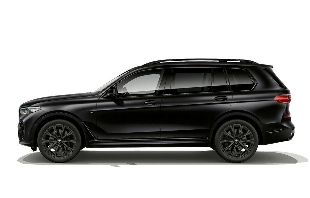 Ediții speciale pentru BMW X5, X6 și X7: vopsea exterioară neagră și accente roșii pentru grila frontală - Poza 12