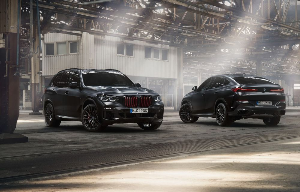 Ediții speciale pentru BMW X5, X6 și X7: vopsea exterioară neagră și accente roșii pentru grila frontală - Poza 1