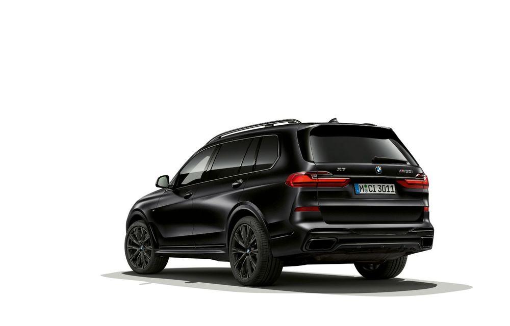 Ediții speciale pentru BMW X5, X6 și X7: vopsea exterioară neagră și accente roșii pentru grila frontală - Poza 13