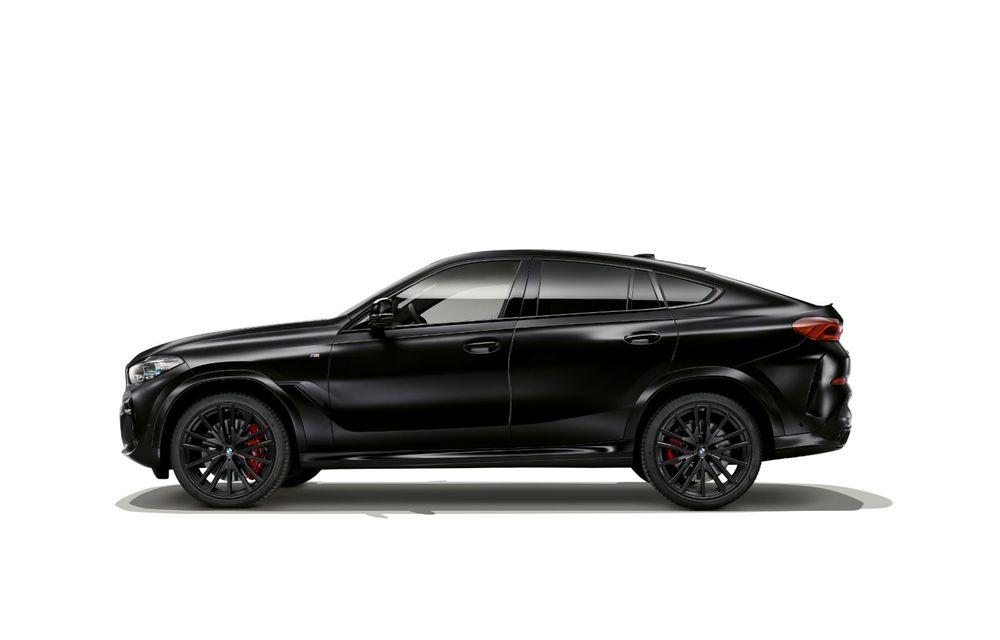 Ediții speciale pentru BMW X5, X6 și X7: vopsea exterioară neagră și accente roșii pentru grila frontală - Poza 8