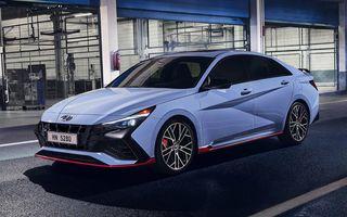 OFICIAL: Hyundai Elantra N debutează cu 280 de cai putere și transmisie manuală