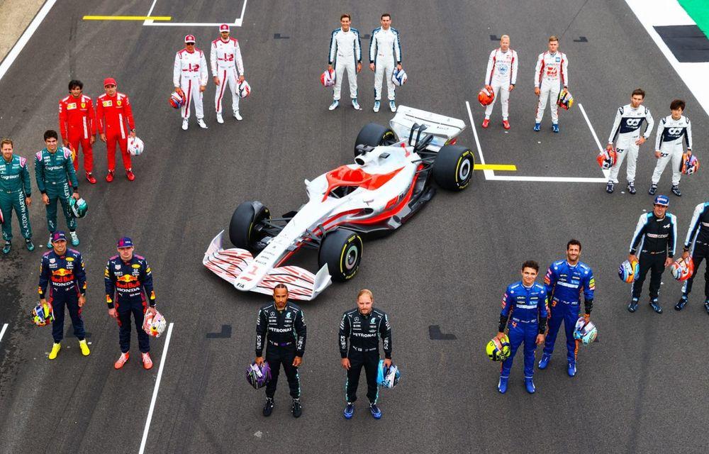 Primele imagini cu monopostul de Formula 1 din 2022: aerodinamică nouă și mai mult biocombustibil - Poza 3