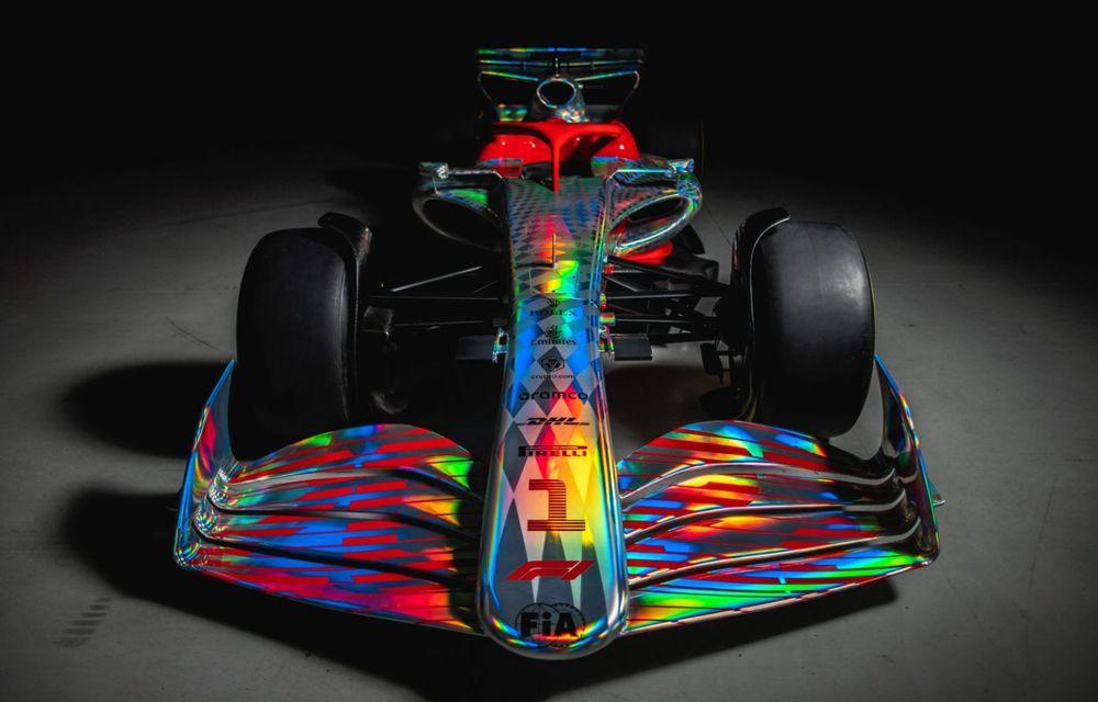 Primele imagini cu monopostul de Formula 1 din 2022: aerodinamică nouă și mai mult biocombustibil - Poza 7