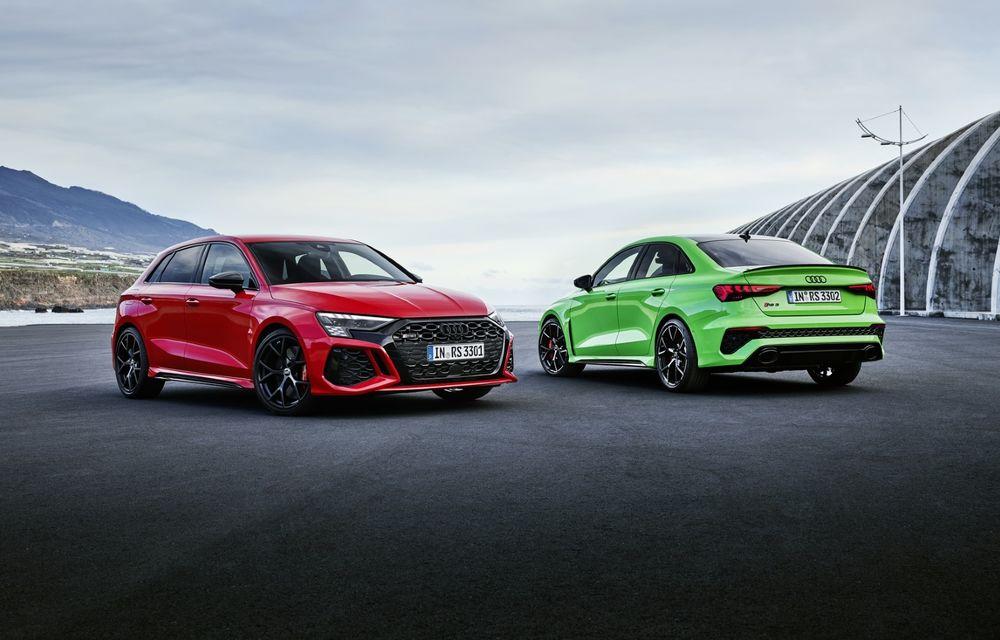 Noua generație Audi RS3 Sportback și Sedan: 400 CP și sistem de vectorizare a cuplului - Poza 1