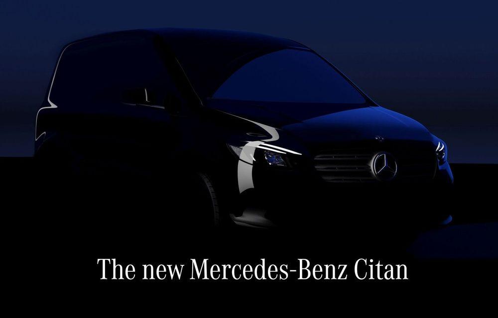 Noul Mercedes-Benz Citan va fi prezentat în 25 august - Poza 1