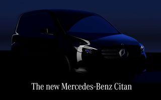 Noul Mercedes-Benz Citan va fi prezentat în 25 august