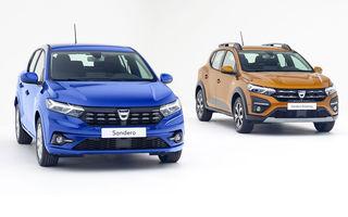 Dacia Sandero este a treia cea mai vândută mașină din Europa în iunie