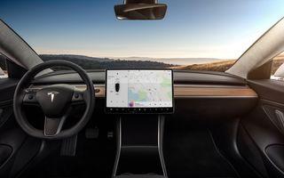 Mașinile Tesla au acum interfață în limba română