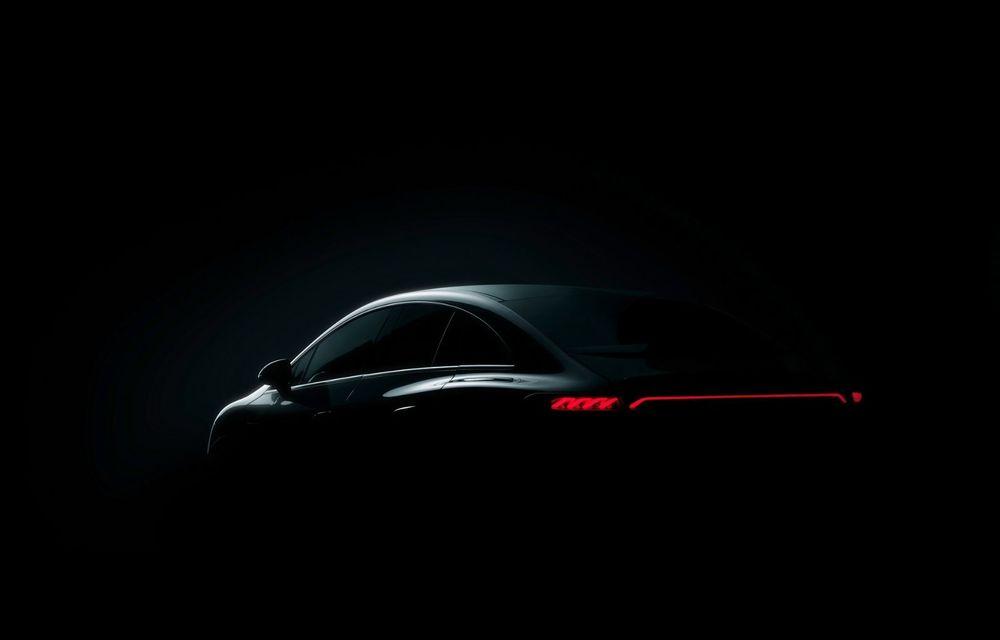 Mercedes-Benz publică primele imagini cu viitorul sedan electric EQE - Poza 1