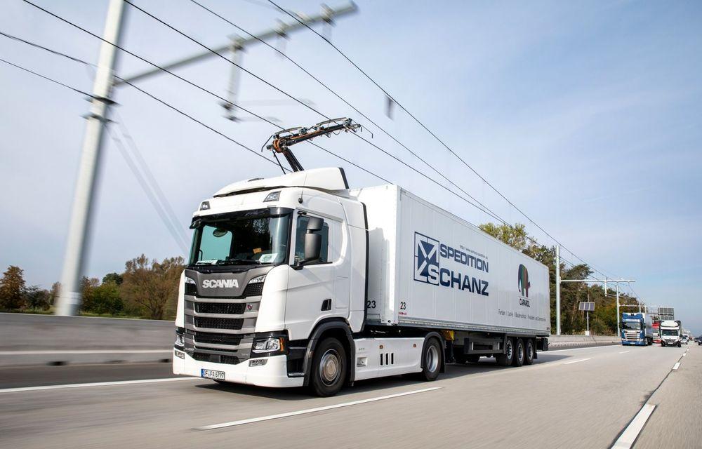 Parteneriat Continental - Siemens pentru autostrăzi electrificate și camioane echipate cu pantografe - Poza 1